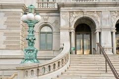 De Bibliotheek van de ingang van Congres stock afbeeldingen