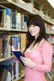 De bibliotheek van de student Stock Afbeelding