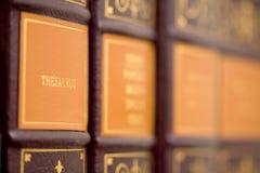 De bibliotheek van de verwijzing stock afbeeldingen