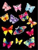 De bibliotheek van de vlinder Stock Fotografie