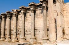 De bibliotheek van Hadrian Stock Foto's