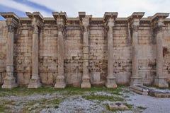 De bibliotheek van Hadrian, Athene Griekenland Stock Foto