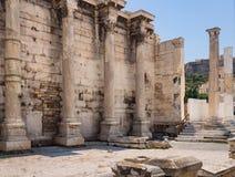 De Bibliotheek van Hadrian - oriëntatiepunt dichtbij de Akropolis in Athene, Griekenland royalty-vrije stock fotografie