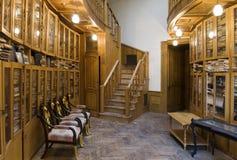 De bibliotheek van het casino Stock Foto