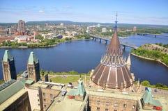 De Bibliotheek van het Parlement in Ottawa Stock Fotografie