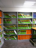 De bibliotheekarchief van het bureau Stock Fotografie