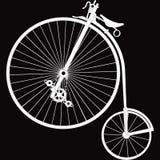 ` De bicyclette de ` de décor noir et blanc Photos libres de droits