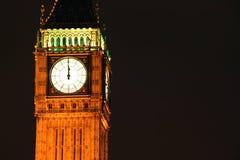 De Big Ben bij middernacht Stock Afbeeldingen