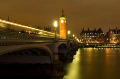 De Big Ben bij nacht Stock Afbeelding