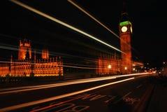 De Big Ben bij Nacht Royalty-vrije Stock Afbeeldingen