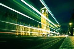 De Big Ben bij nacht royalty-vrije stock afbeelding