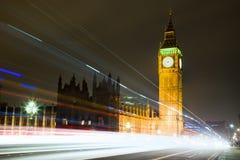 De Big Ben bij Nacht in Londen Stock Fotografie