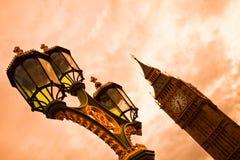 De Big Ben bij zonsondergang Stock Foto
