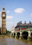 De Big Ben en de Brug van Westminster, Londen, het UK Royalty-vrije Stock Afbeelding