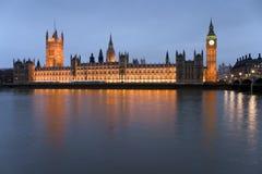 De Big Ben en de Huizen van het Parlement royalty-vrije stock foto's