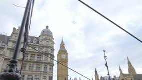 De Big Ben en de Huizen van het Parlement stock footage