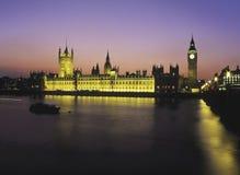 De Big Ben en de Huizen van het Parlement, Londen Stock Fotografie