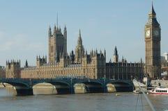 De Big Ben en Huis van het Parlement - Londen Stock Foto