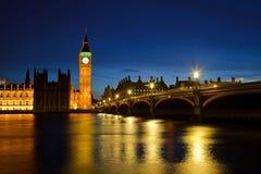 De Big Ben en Huizen van het Parlement Stock Fotografie