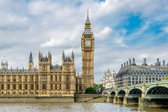 De Big Ben en Huizen van het Parlement Royalty-vrije Stock Afbeelding