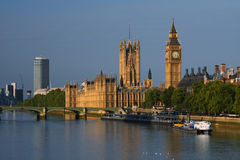 De Big Ben en Huizen van het Parlement in Londen Royalty-vrije Stock Afbeeldingen