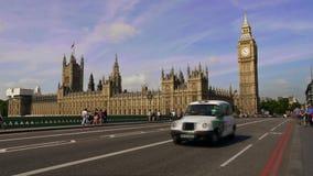 De Big Ben en huizen van het parlement in Londen, tijdtijdspanne stock video