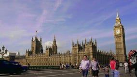 De Big Ben en huizen van het parlement in Londen, tijdtijdspanne stock videobeelden