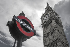 De Big Ben en ondergronds Stock Afbeeldingen