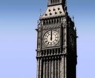 De Big Ben, Londen, 12 uur Stock Afbeeldingen