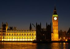 De Big Ben in Londen Stock Afbeelding