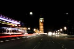 De Big Ben in Londen bij nacht Stock Foto
