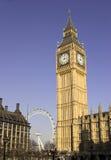 De Big Ben, Londen, Engeland Stock Afbeeldingen