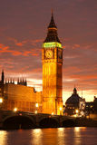 De Big Ben, Londen, het UK Stock Afbeeldingen