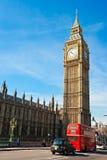 De Big Ben, Londen, het UK. stock afbeelding