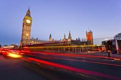 De Big Ben, Londen, het UK. Stock Foto's