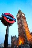 De Big Ben, Londen, het UK. Royalty-vrije Stock Fotografie