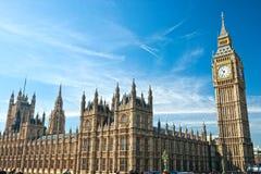 De Big Ben, Londen, het UK. royalty-vrije stock afbeeldingen