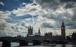 De Big Ben, Londen, het Verenigd Koninkrijk Royalty-vrije Stock Foto