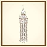 De Big Ben-prentbriefkaar Stock Fotografie
