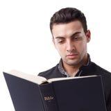 De Bijbel van de lezing Stock Fotografie