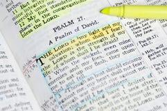 De Bijbel van de studie stock foto's