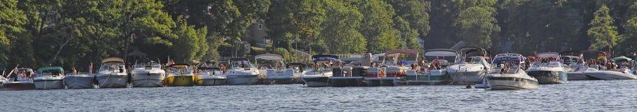 De Bijeenkomst van de bootpartij royalty-vrije stock afbeelding