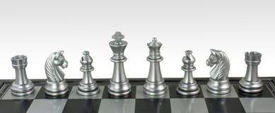 De Bijeenkomst van het schaak Stock Foto