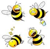 De bijen grappig karakter van de emotie Stock Foto