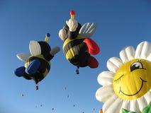 De Bijen van de ballon Stock Foto's