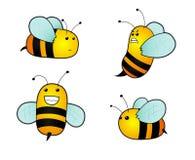 De bijen van het beeldverhaal Royalty-vrije Stock Foto
