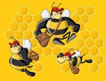 De bijenkorf van de bij. Royalty-vrije Stock Afbeeldingen