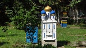De bijenkorf voor de bijen bij het klooster Royalty-vrije Stock Afbeeldingen