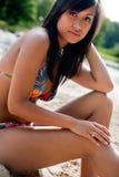 De bikini van de schoonheid babe Stock Fotografie