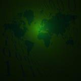 De binaire Aarde verdwijnt langzaam royalty-vrije illustratie